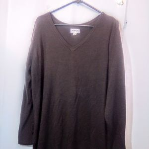 Avenue Size 22/24 Brown Pullover Sweater